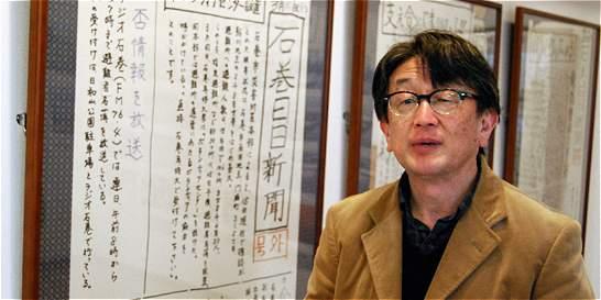 El periódico japonés que contó el tsunami a mano y con linternas