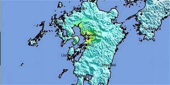 Fuerte sismo de 6,5 grados se registró en el suroeste de Japón