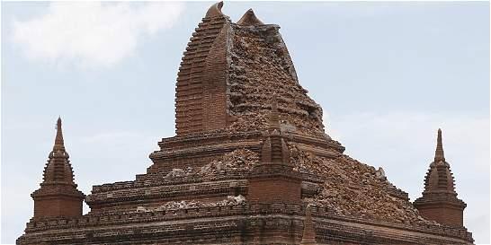 4 muertos y 185 pagodas dañadas en Birmania por el sismo