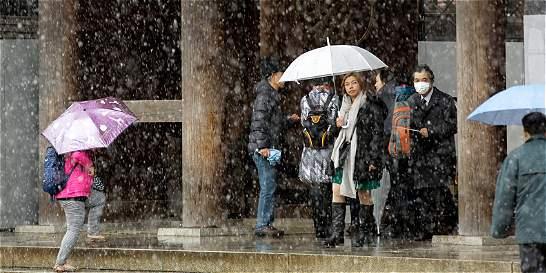 Nieva en Tokio en noviembre, algo que no se veía en 54 años