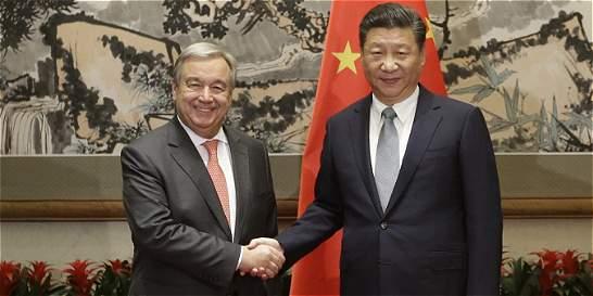 Nuevo Líder de la ONU pide en China respeto por los derechos humanos