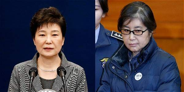La destituida Park Geun-hye y la 'Rasputina', Choi Soon-sil.