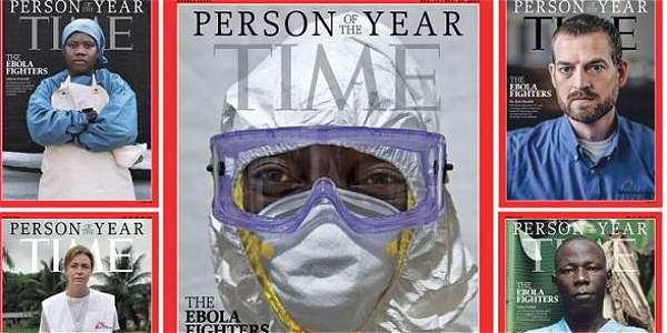 La revista 'Time' eligió a los combatientes del ébola como el personaje del año.