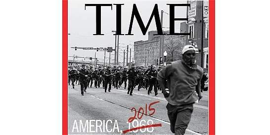 La impactante portada de 'Time' sobre protestas raciales en Baltimore