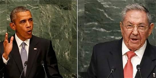 Primer encuentro de Obama y Castro desde que reabrieron embajadas