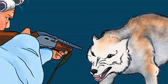 Caperucita Roja porta rifle en Estados Unidos
