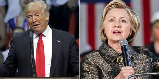 Trump vence en cinco estados y Clinton en cuatro en las primarias
