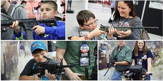 Fotos: niños armados en encuentro de la Asociación Nacional del Rifle