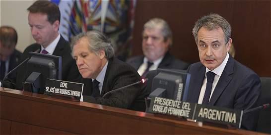 Zapatero pide a la OEA una oportunidad de diálogo en Venezuela