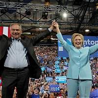 La bendición para la campaña de Hillary Clinton en Filadelfia