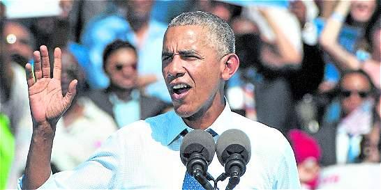 Barack Obama hace campaña por Hillary Clinton en Filadelfia