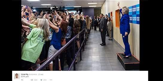 La selfie de Hillary Clinton que fue tendencia en redes sociales