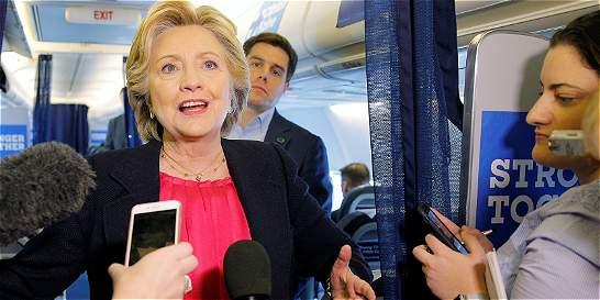 Clinton se muestra satisfecha tras el debate