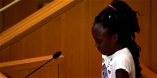 Discurso viral de una niña sobre negros asesinados por policías