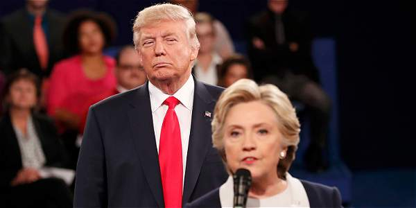 Momentos de tensión en segundo debate entre Hillary Clinton y Trump