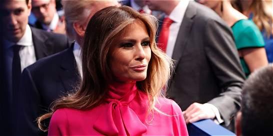 Melania Trump defiende a su marido en polémica por palabras obscenas