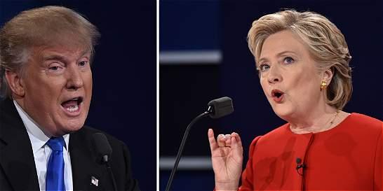 Cómo llegan Clinton y Trump al último debate de esta noche