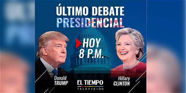 Esta noche será el último debate presidencial entre Donald Trump y Hillary Clinton.