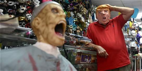 Las mil muecas de Trump, garantía de éxito en Halloween
