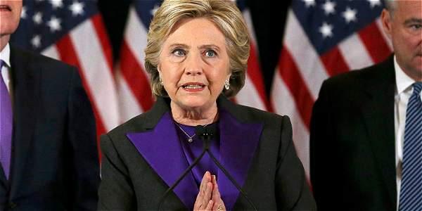 Hillary Clinton le deseó éxitos a Trump por el bien