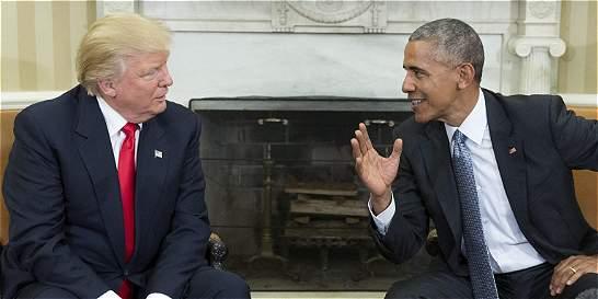 Trump dice que considerará mantener partes de 'Obamacare'