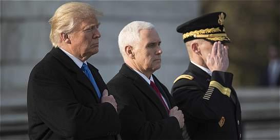 Trump inicia su agenda presidencial con homenaje a los excombatientes