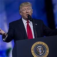 Presidente Trump dice que cree en 'la paz a través de la fuerza'