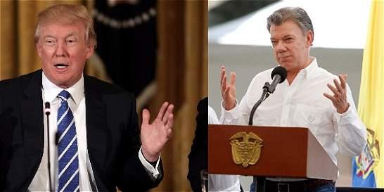 Los temas que tienen en la agenda los presidentes Santos y Trump