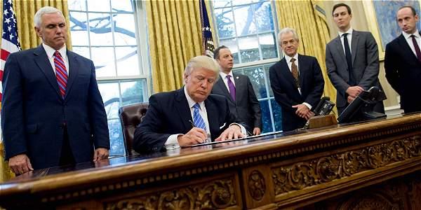El presidente de EE. UU., Donald Trump, pensó que la nueva orden migratoria evitaría litigios.