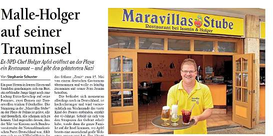 Reconocido líder neonazi alemán abre restaurante en Palma de Mallorca
