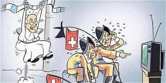 El papa Francisco tuvo su revancha con la guardia suiza