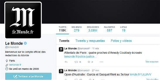 Piratas informáticos atacaron 'Le Monde' 'por apoyo al terrorismo'