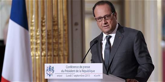 'Francia recibirá a 24.000 refugiados': Hollande