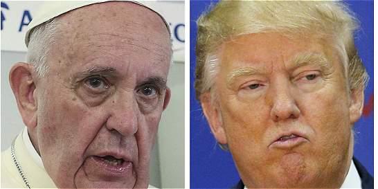'Comentarios del Papa sobre Trump no fueron ataque personal': Vaticano