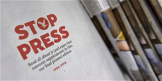 Periódico 'The Independent' publicó este sábado su última edición