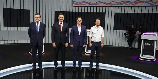 Todos contra Mariano Rajoy en debate previo a elecciones en España