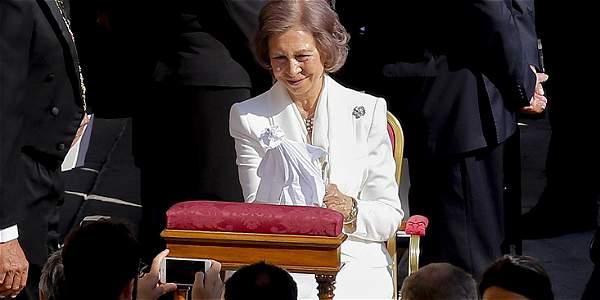 La reina Sofía presente en la ceremonia.