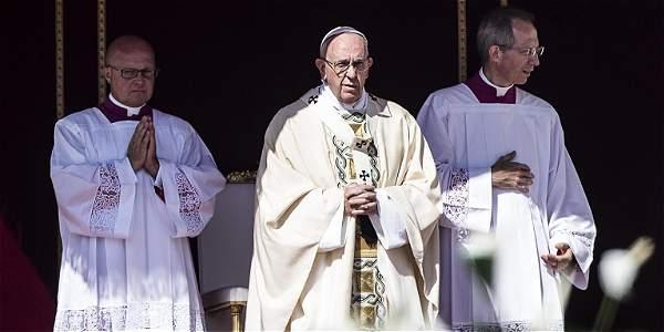 El papa Francisco en la ceremonia de canonización.