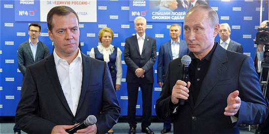 El partido de Putin arrasa en elecciones rusas