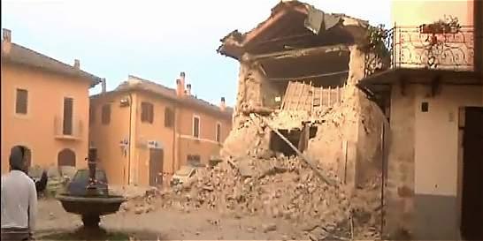 Italia, de nuevo golpeada por un fuerte sismo