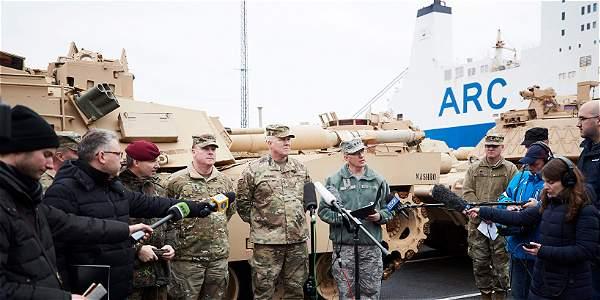 Varios tanques de guerra de EE. UU. llegaron el pasado 6 de enero a Alemania, para reforzar la capacidad de defensa de los países de la OTAN.
