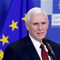 Mike Pence expresa 'fuerte compromiso' de Trump con la Unión Europa