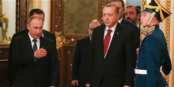 El presidente ruso, Vladimir Putin, y el presidente turco, Recep Tayyip Erdogan, se reunieron en Moscú.