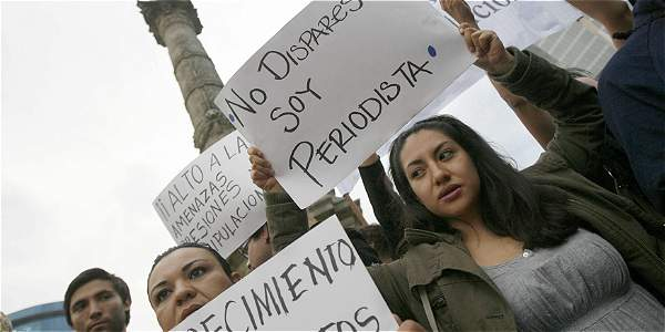 Marcha en México a favor de la libertad de prensa.