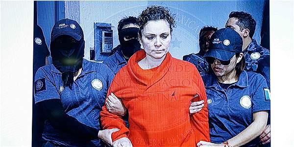 Imagen de María de los Ángeles Pineda, esposa del alcalde de Iguala, detenida por su implicación en la desaparición de los 43 estudiantes de Ayotzinapa.