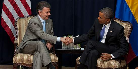 En reunión con Santos, Obama reiteró apoyo al proceso de paz
