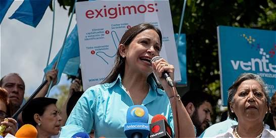A María Corina Machado no la dejaron inscribir candidatura a Asamblea