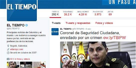 EL TIEMPO es el diario latinoamericano con más seguidores en Twitter