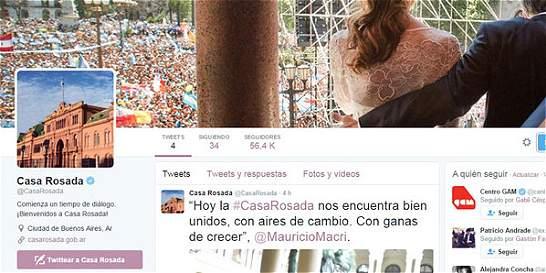 Macri estrena Twitter oficial porque Kirchner se quedó con el original