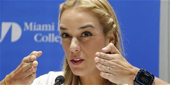 Lilian Tintori pide apoyo al proyecto de ley de amnistía de Venezuela